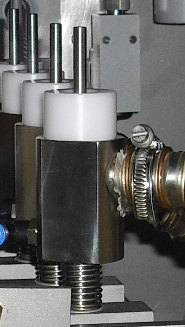 Nozzles on Bottle Cleaning Machine Raupack UK and Ireland