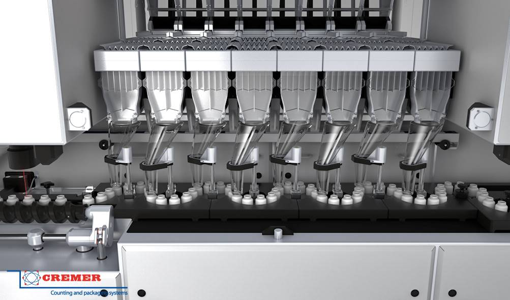 Tablet Counter in motion filling Raupack UK and Ireland