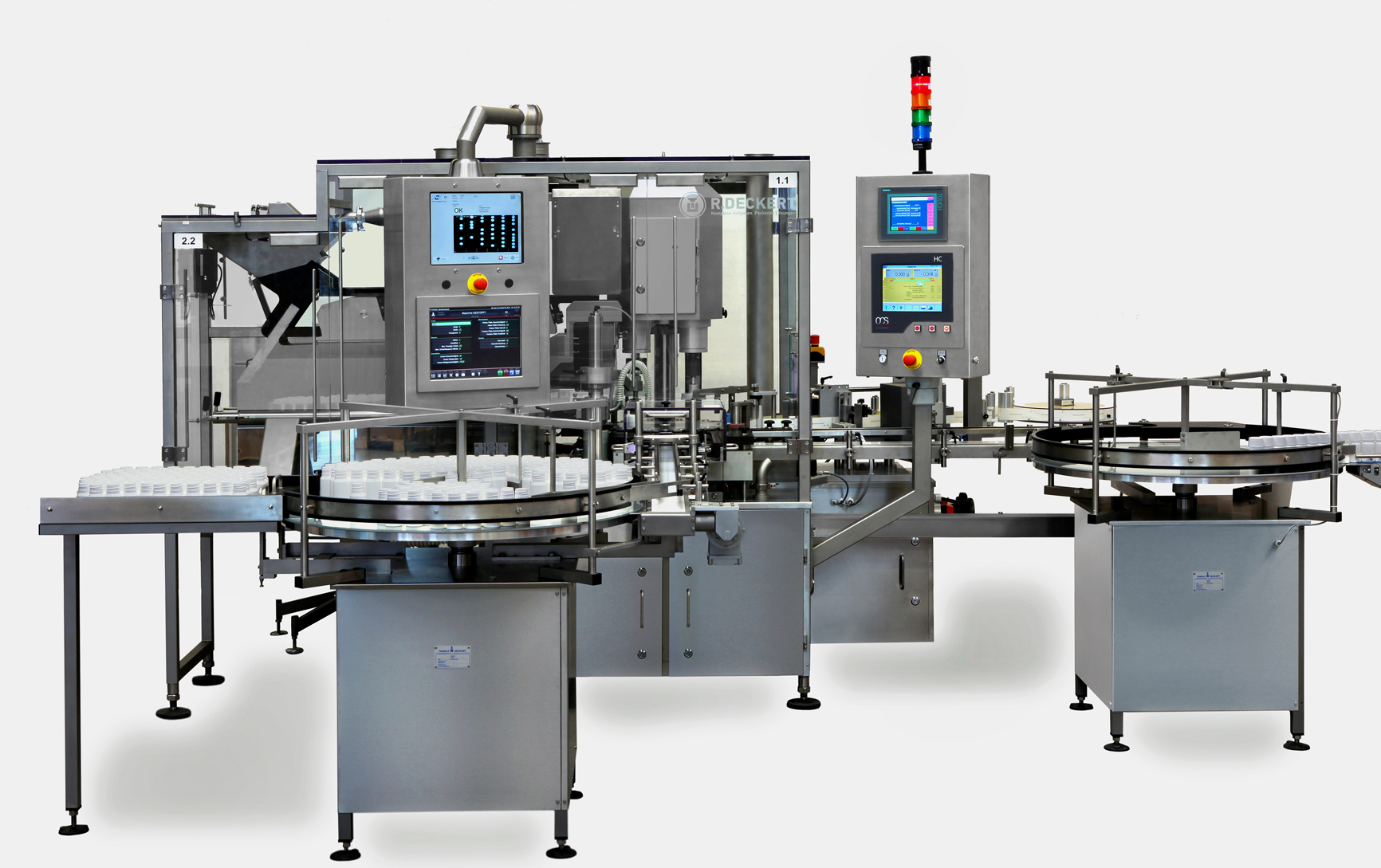 Mono-block tablet counting line TVM Raupack UK and Ireland