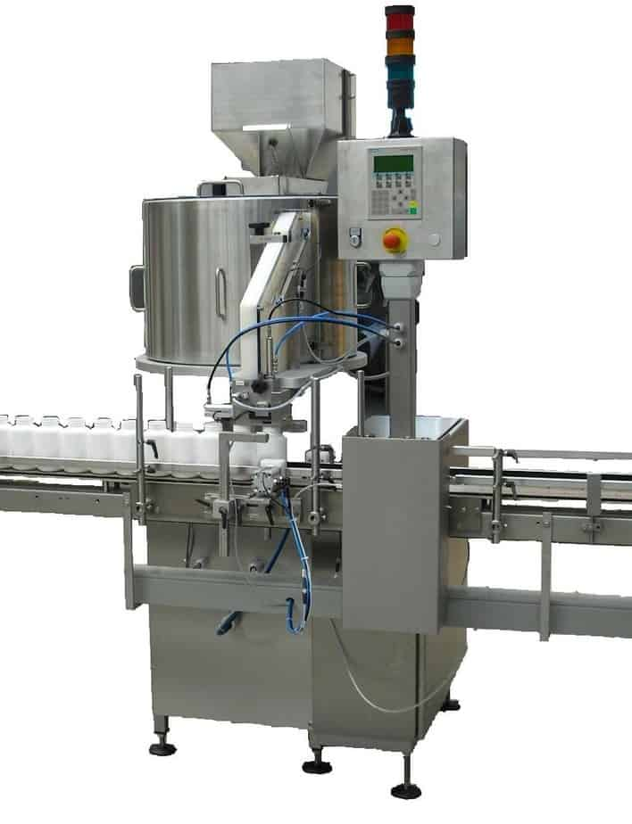 Desiccant Inserting Machine for Bottles - Raupack UK and Ireland